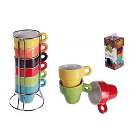 SET 6 TAZZINE DA CAFFE IN CERAMICA