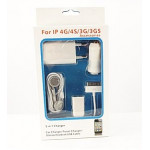 CARICATORE AUTO 5 IN 1 IPHONE 3-4