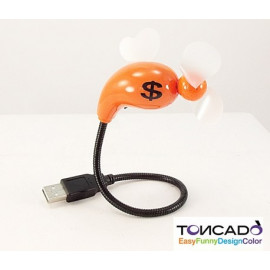VENTILATORE USB ARANCIONE PER PC