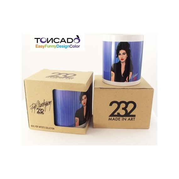 TAZZA POP ARTISTS AMY WINEHOUSE TONCADO