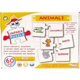 GIOCO IMPARA PUZZLE ANIMALI DA 60 PEZZI