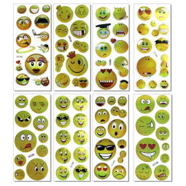 STICKERS EMOTICONS MODELLI ASS