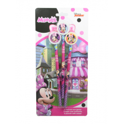 MATITA CON GOMMINA 3pz IN BLISTER MINNIE