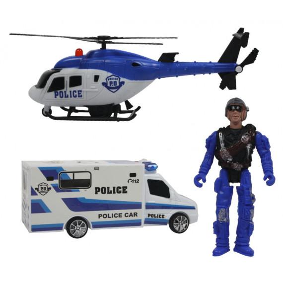 ELICOTTERO E FURGONE POLIZIA 3 pz